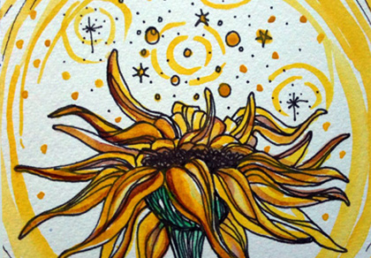 sunflower illustration